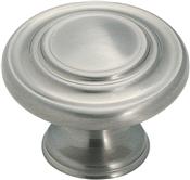 Amerock BP1586G10 Cabinet Knob, 1 in Projection, Zinc, Satin Nickel
