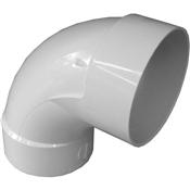 "4"" PVC S&D 90° Sanitary Elbow (HubxHub)"