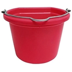 20 Qt Plastic Flatback Bucket, Red