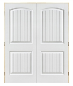 2868 Double 2 Panel Cheyenne Smooth Prehung Door