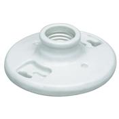 1 Light Flush Keyless Porcelain Fixture - White