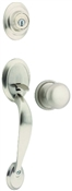 Dakota Handleset with Single Cylinder Deadbolt, Satin Nickel