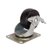 CASTER SWIVEL 3IN RUB/ZINC