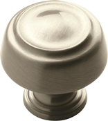 Amerock BP53700G10 Cabinet Knob, 1-3/16 in Projection, Zinc, Satin Nickel