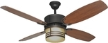 "Santa Fe 52"""" Ceiling Fan, Tri Mount, W/ Light Kit And Remote Control, English Bronze Finish"
