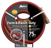 "3/4"" x 75' Farm & Ranch Duty All Purpose Hose, Dark Red"