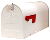 White Galvanized Large T2 Rural Mailbox