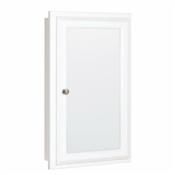 """16"""" Mirrored Medicine Cabinet, White"""