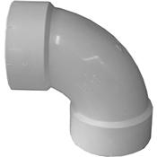 """3"""" PVC-DWV 90 Sanitary Elbow (Hub x Hub)"""