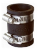 "Rubber Pipe Connector 1-1/2""x1-1/2"""