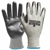 Premium Defense, Cut-Resistant Work Gloves, Gray, Men's Large