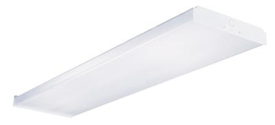 4' T8 4 Lamp Residential Wrap Fixture