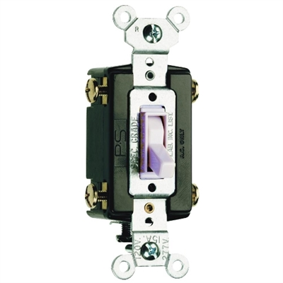 White 15 Amp 120 Volt 4-Way Toggle Switch