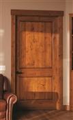 3068 2 Pnl Squared Knotty Alder Door, Oil Rubbed Bronze