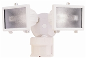 150W Halogen Security w/Motion 240Deg WHT