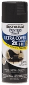 2X Painter's Touch Spray Paint Satin Canyon Black