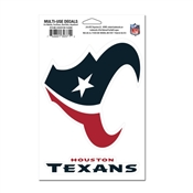 "4.5"" x 7"" Houston Texans Multi-Use Decal"