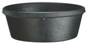 Heavy Duty 4 Qt Rubber Feed Pan, Black