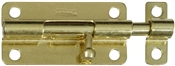 "4"" Barrel Bolt, Brass"