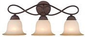 3 Light Antique Bronze Indoor Wall Fixture