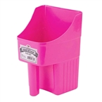 Hot Pink Enclosed Feed Scoop, 3 Quart