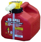No Spill 1-1/4 Gallon Gasoline Can