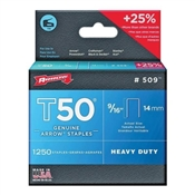 "9/16"" Heavy Duty Staples, 1250 Pack, #509"