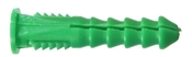Ribbed Plastic Anchor Green 12-14-16X1.5