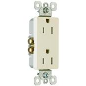 Almond 15 Amp 125 Volt Decorator Tamper Resistant Receptacle