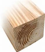 "5x5-8' (Actual: 4-1/2""x4-1/2"") Rough Ground Contact Treated Pine"