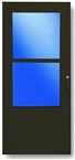"32"" Brown Single-Vent Storm Door - 288 - SS"