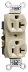 Ivory 20 Amp 125 Volt Heavy Duty Duplex Grounding Outlet