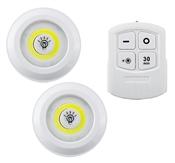 LitezAll, 2 Pack, COB LED Puck Light