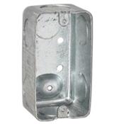 Raco 8663 Handy Box, 1-Gang, Steel, Gray