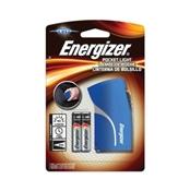 Energizer Flashlight, LED Lamp, Alkaline Battery, Red