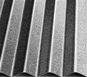 "8' Galvanized 2-1/2"" Corrugated 30 Gauge Metal Panel"