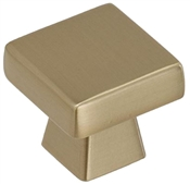 1-3/16 in (30 mm) Length Knob - Golden Champagne