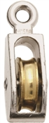 National Hardware N223-404 Fixed Single Pulley, 40 lb Weight Capacity, 1/4 in Rope