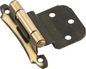 Amerock BPR7928AE Cabinet Hinge, Steel, Antique Brass