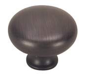 "1-1/4"" Smooth Solid Cabinet Knob - Classic Bronze"