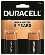 DURACELL MN1604B2Z Alkaline Battery, 9 V Battery, 9 V Battery, Manganese Dioxide, 2/PK
