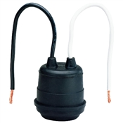 "660 Watt Pigtail Socket with 6"" Leads Black"