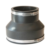 """Rubber Pipe Coupling, 6"""" x 4"""""""