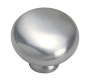 "1-1/4"" Smooth Solid Cabinet Knob - Satin Nickel"
