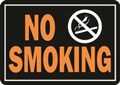 HY-KO Hy-Glo 811 Identification Sign, Rectangular, NO SMOKING, Fluorescent Orange Legend, Black Background