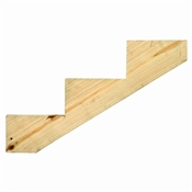 3 Step Ground Contact Treated Stair Stringer