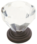 Amerock Traditional Classics 14303ORB Cabinet Knob, 1-3/8 in Projection, Acrylic/Zinc, Oil-Rubbed Bronze