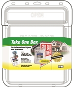 HY-KO 22131 Single-Sided Take One Flyer Box, Plastic, Clear
