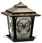 Audubon, Hopper Style Bird Feeder with Butterfly Accents