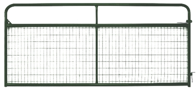 8' Tuf-Mac Wire Filled Tube Gate - Green
